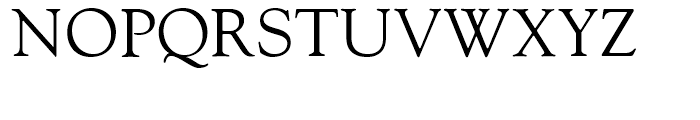 Goudy Oldstyle Roman Font UPPERCASE