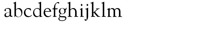 Goudy Oldstyle Roman Font LOWERCASE