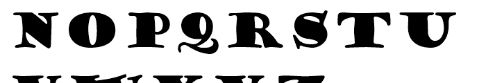 Goudy Stout Regular Font UPPERCASE