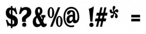 Gold Fever  Black Condensed Font OTHER CHARS