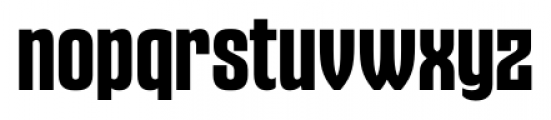 Gothiks Bold Font LOWERCASE