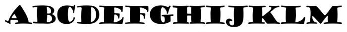 Goudy Stout CT Regular Font UPPERCASE