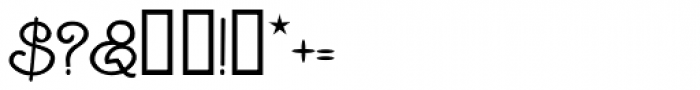 Goddard Font OTHER CHARS