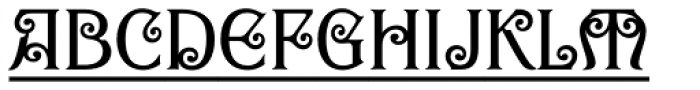 Goddess Title Font LOWERCASE