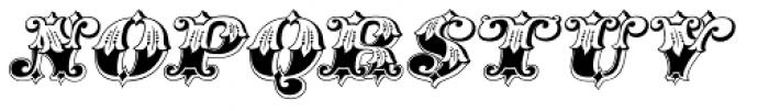 Gold Standard Italic Font UPPERCASE