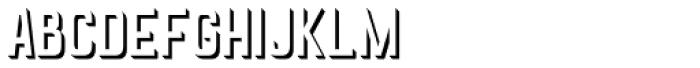 Goldana Extrude Font LOWERCASE