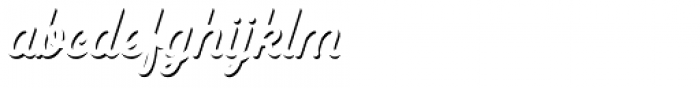 Goldana Script Shadow Solo Font LOWERCASE
