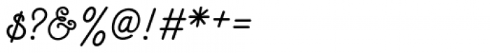 Goldana Script Font OTHER CHARS