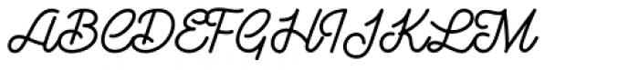 Goldana Script Font UPPERCASE