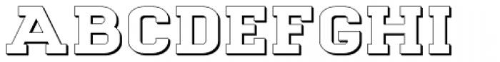 Goldbarre No 3 Font LOWERCASE