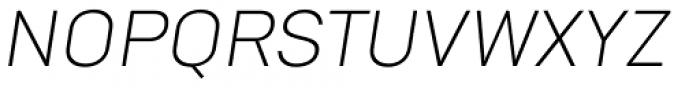 Goldbill Extra Light Italic Font UPPERCASE