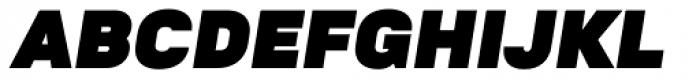 Goldbill XL Heavy Italic Font UPPERCASE