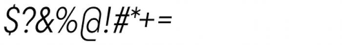 Goldbill XS Light Italic Font OTHER CHARS