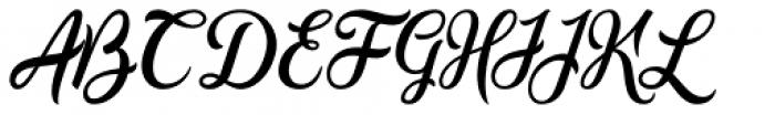 Golden Brush Font UPPERCASE