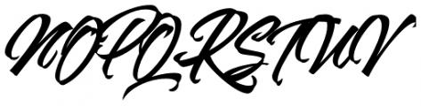Goliath Regular Font UPPERCASE
