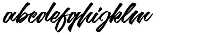 Goliath Regular Font LOWERCASE