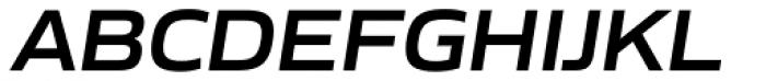 Gomme Sans Semi Bold Italic Font UPPERCASE