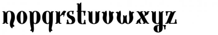 Gondolieri Condensed Bold Font LOWERCASE