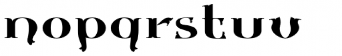 Gondolieri Expanded Font LOWERCASE