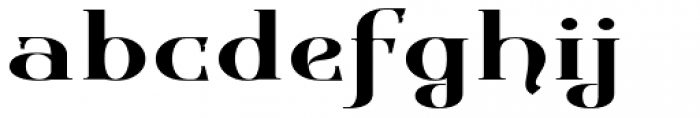 Gondolieri Text Expanded Font LOWERCASE