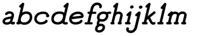 Good Bad Man Italic Font LOWERCASE