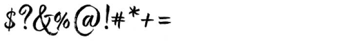 Good Karma Upright Font OTHER CHARS
