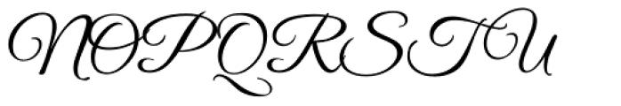 Good Vibrations ROB Script Font UPPERCASE