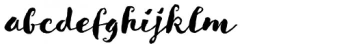 Goodlife Brush Font LOWERCASE
