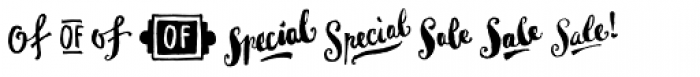 Goodlife Extras Font LOWERCASE