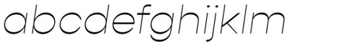 Gopher Thin Italic Font LOWERCASE