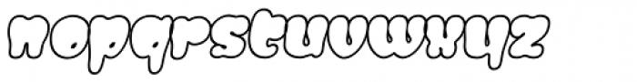 Gordis Outline Italic Font LOWERCASE