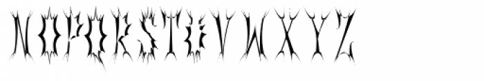 Gorey Tall Font UPPERCASE