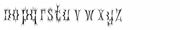 Gorey Tall Font LOWERCASE