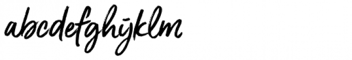 Gotcha Standup Font LOWERCASE