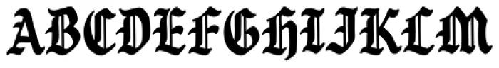 Goth Chic Black Font UPPERCASE