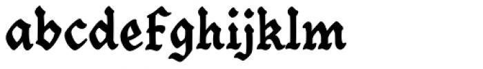 Goth Chic Black Font LOWERCASE