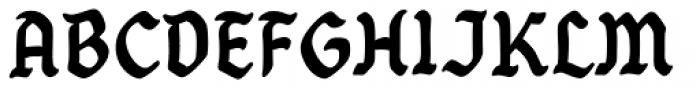 Goth Chic Dark Font UPPERCASE