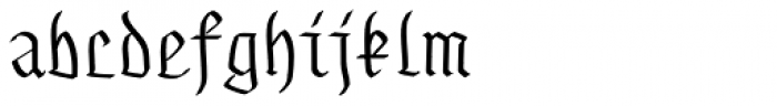 Gothamburg Font LOWERCASE