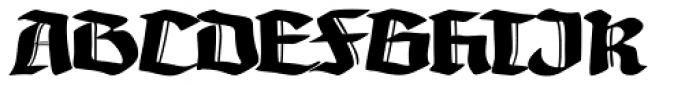 Gotheau Bold Font UPPERCASE
