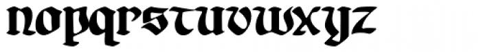 Gotheau Bold Font LOWERCASE