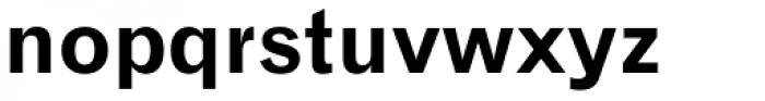 Gothic 720 Bold Font LOWERCASE