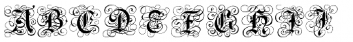 Gothic Flourish Font UPPERCASE