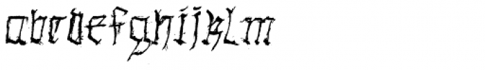 Gothic Hand Dirty Font LOWERCASE