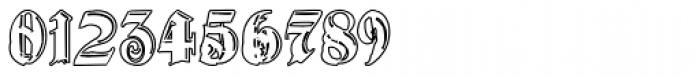 Gothic Handtooled Bastarda Outline Font OTHER CHARS