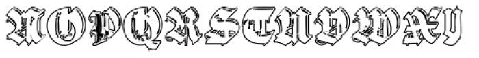 Gothic Handtooled Bastarda Outline Font UPPERCASE