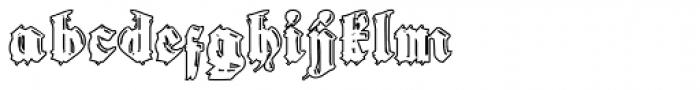 Gothic Handtooled Bastarda Outline Font LOWERCASE