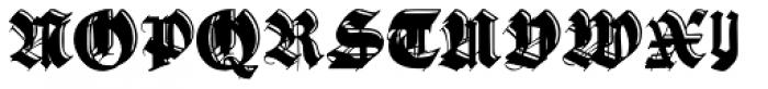 Gothic Handtooled Bastarda Font UPPERCASE