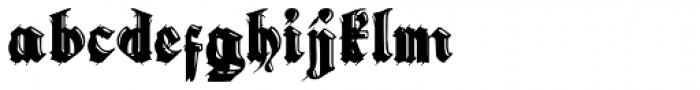 Gothic Handtooled Bastarda Font LOWERCASE