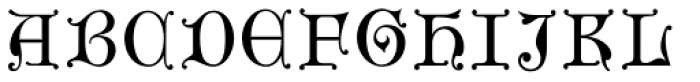 Gothic Initials Three Font UPPERCASE