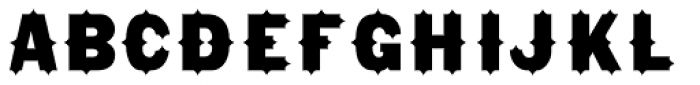 Gothic Tuscan8 Bold Pointed Font LOWERCASE